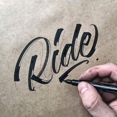 """typegang: """"This oozes style. Really like how @michael_moodie has exaggerated (created?) the gaps where pen misses paper. – use #typegang to get featured – #pen #paper #texture #marker #typography #lettering #handlettering #sketchbook #type #pencil..."""