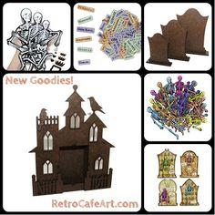 Fabulous Halloween Goodies from Retro Café Art Gallery www.RetroCafeArt.com