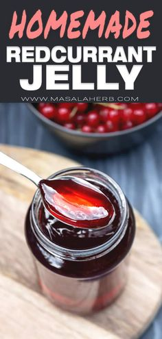 Red Currant Jelly Recipe, Red Currant Jam, Currant Recipes, Jelly Recipes, Jam Recipes, Fruit Recipes, Sweets Recipes, Desserts, Postres