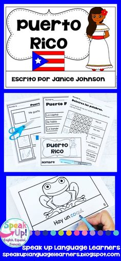 Puerto Rico Reader {en español} & Cut & Paste ~ Simplified for Language Learners. Your students will learn all about Puerto Rico with this comprehensible text!