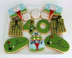 Cookies and More Cookies! Golf Cookies, Circus Cookies, Man Cookies, Iced Cookies, Cute Cookies, Cupcake Cookies, Sugar Cookie Frosting, Royal Icing Cookies, Valentine Cookies