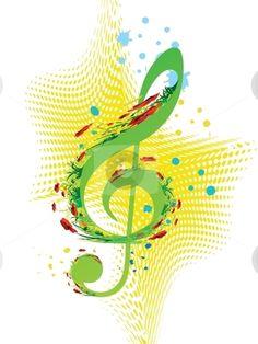 spring music | Spring music stock vector clipart, Spring music vector by Milsi Art