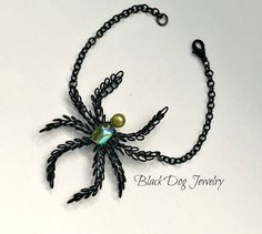 Hey, I found this really awesome Etsy listing at https://www.etsy.com/listing/110355945/wire-spider-bracelet-gothic-jewelry