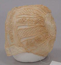 Cap, British, 18th century, cotton