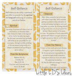 { Mormon Share } September Vt Message Printable: Self-Reliance
