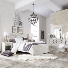 Complement the look of your bedroom decor with this Home Styles Seaside Lodge Hand Rubbed White Twin Bedroom Set. White Twin Bedroom Set, Large Bedroom, Bedroom Furniture Sets, Bedroom Decor, Bedroom Ideas, Rustic Bedroom Sets, Farmhouse Bedroom Set, Farmhouse Furniture, Design Bedroom
