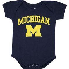 Amazon.com  Michigan Wolverines Newborn Infant Navy Big Fan Creeper  Sports    Outdoors a29106bcf