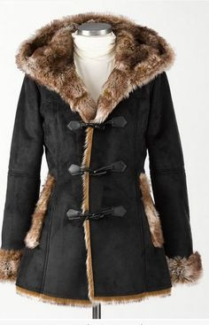 Wonderlands coat Was $199, Now $69.99 This full-on luxury is suede-like outside, overflowing plushness inside. Fitted with a hood, pockets and fluffy cuffs; toggle closures. Coldwater Creek