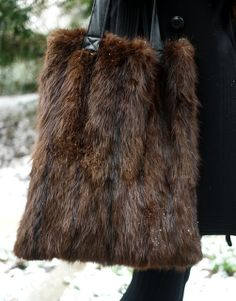 upcycled leather and fur bag by reformation via My Fair Vanity