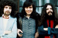 Jeff Lynne, Bev Bevan, Roy Wood. First ELO line up.