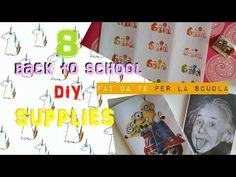 (1) 8 back to school DIY SUPPLIES: idee fai da te per la scuola - YouTube