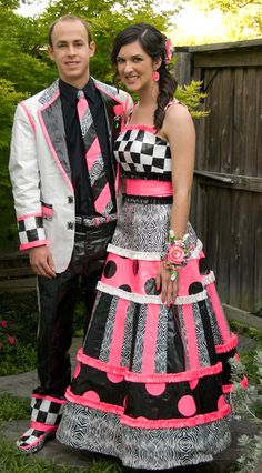 Just amazing  Stuck at prom (duct tape prom dress)
