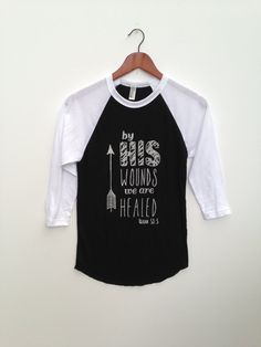By HIS Wounds . Baseball Tee by greythread on Etsy, $28.00