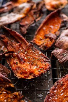 Simple Salty Sweet Potato Skin Chips | halfbakedharvest.com @hbharvest