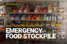 The best places to store your emergency food stockpile for disaster prepping