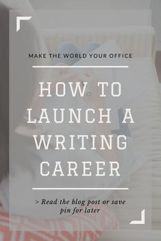 I've always wanted to work from home and on the road as a writer. Thankfully, Writers Work allows me to do that! #writing #writingtips #freelance #travel #blogger #blogging #authorlife