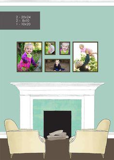 wall gallery idea for family photos