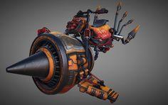 Goblin Suicide Bike, Lou Dumont on ArtStation at https://www.artstation.com/artwork/ENaPq