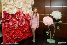 большие бумажные цветы, paper flowers