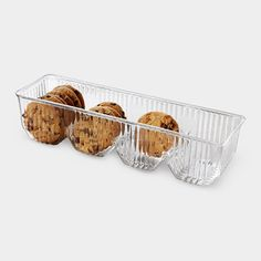 """A great way to display cookies!"" If this is considered classy, how downgraded is the plastic version? Really, would it be that bad if you just had the plastic one, instead of the new, fancy, glass one?"