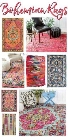 Bohemian Rugs — Beautiful Boheme Rooms & Where to Find!