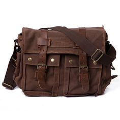 HDE Vintage Canvas Military Tactical Ammo Style Shoulder Messenger Field Bag ** See this great product. (This is an Amazon Affiliate link and I receive a commission for the sales)