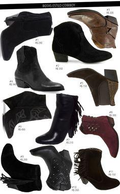 As botas da temporada: modelos, valores e formas de usar!