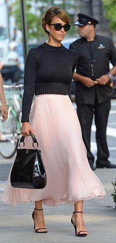 Jessica Alba channelled Audrey Hepburn at New York Fashion Week