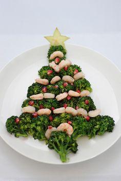 albero di natale con i broccoli