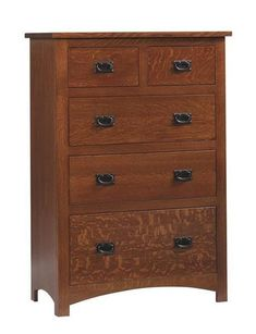 Amish Siesta Mission Chest of Drawers Save space with this mission chest full of spacious drawers. Fine wood furniture for bedroom that's durable and made with solid wood. #bedroomchest #bedroomstorage #chestofdrawers