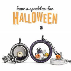 Origami Owl Halloween Collection available at StoriedCharms.com - Charms, plates, lockets, bracelets & more