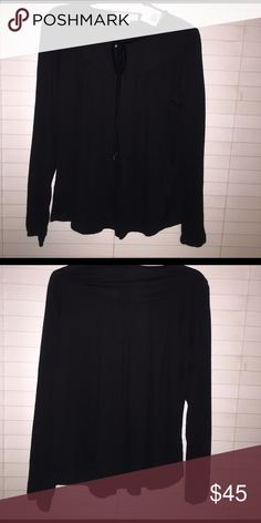 Michael Kors long sleeve blouse Black long sleeve Michael Kors blouse. Perfect for the office or out in town. Wear it with slacks or jeans... Michael Kors Tops Blouses