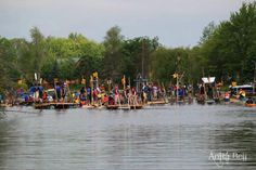 "PHOTO CONTEST ENTRY: ""Huck Finn Raft Races - Little Bob Channel, Bobcaygeon"""