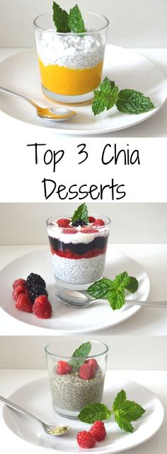Recipe for mango chia dessert yogurt berry chia dessert chia matcha dessert. Delicious and healthy at the same time. The post Chia dessert in three delicious variants appeared first on Dessert Factory. Chia Dessert, Matcha Dessert, Dessert Blog, Mango Smoothie Recipes, Smoothie Detox, Pudding Desserts, Dessert Recipes, Yogurt, Coconut Chia Pudding