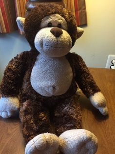 """Build A Bear Monkey Retired 18"""" Plush Stuffed Toy #BuildaBear #AllOccasion"""