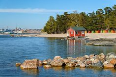 Pihlajasaari is like a desert island, but its in the Baltic!... and yes the sea isn't salty at all