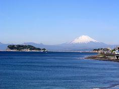 Mt.Fuji over Enoshima, Kamakura , Japan 江ノ島から富士山を望む