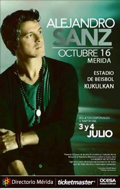 Alejandro Sanz en Mexico, toda la información   http://www.ticketmaster.com.mx/Alejandro-Sanz-boletos/artist/755193?SREF=TWArtistKeyword