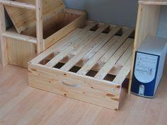 multifunctionele meubels | Flip multifunctionele hoogslaper met blauwe kussens - hioshop.nl ...