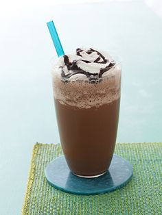 Love this Almost-Famous Mocha Frappe!!! I am so in love!!!  Individually wrapped the cubes in the freezer for a quick drink with no fuss!  Just throw everything in the blender!