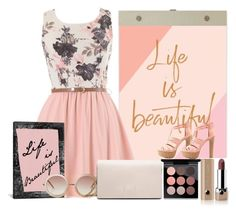 """""""Life is Beautiful"""" by weerala ❤ liked on Polyvore featuring Chronicle Books, Charlotte Russe, MAC Cosmetics, Marc Jacobs, Monki and Calvin Klein"""