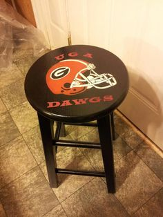 Hand painted stools any team/theme $65.00 +s