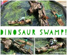 "Dinosaur ""Swamp"" Sensory Play (from The Imagination Tree)"