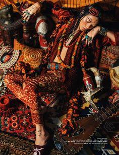 Harper's BAZAAR Indonesia Photography Nicoline Patricia Malina Model Darell Ferhostan Ethno Style, Bohemian Style, Boho Chic, Bohemian Lifestyle, Fashion Shoot, Editorial Fashion, Fashion Outfits, Tribal Fashion, Boho Fashion