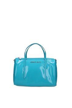 Bauletti Armani Jeans Donna Tessuto Turchese V5278V4QA Celeste 17x21x31 cmEU