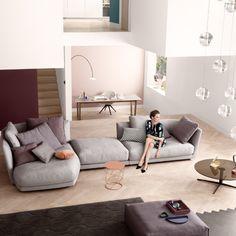 De prachtige Rolf Benz Tondo. Met mooie elegante vormen en zeer luxe zitcomfort.