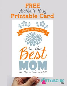 Mother's Day is right around the corner and I bet you want to make mother's day extra special for your mom. Download at Partymazing.com #partymazing #freeprintable #printable #mothersday