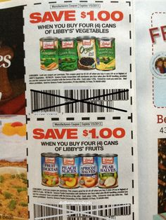 Libby's coupons @ dollar tree!
