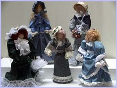 "Linda Walsh Originals Dolls and Crafts Blog: Some Recognition For The Victorian ""Ladies"" Dolls"