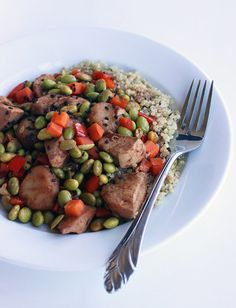 Save money and hundreds of calories by opting for a lightened-up version of Chinese takeout. This sweet and sour chicken recipe is light on calories and fat. Calories: 348 Source: Lizzie Fuhr